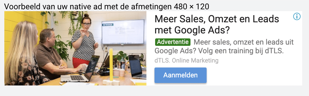 Voorbeeld responsieve display ad