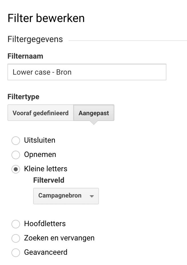 Filter Lowcase Bron
